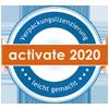 Activate 2020 Lizenz-Verpackungssiegel Logo
